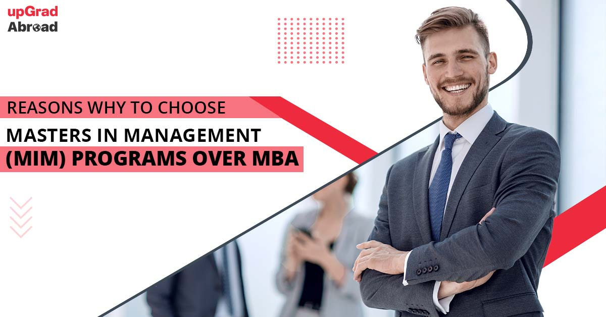 Choosing masters in management over MBA